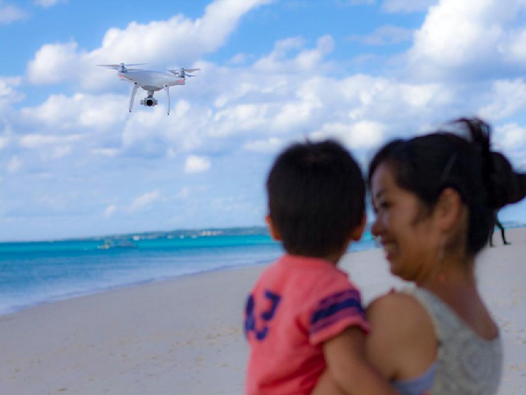絶景ビーチでドローン撮影 鮮やかな海・空の思い出を残す楽園空撮フォトツアー!撮影地のリクエストもOK♪<宮古島>